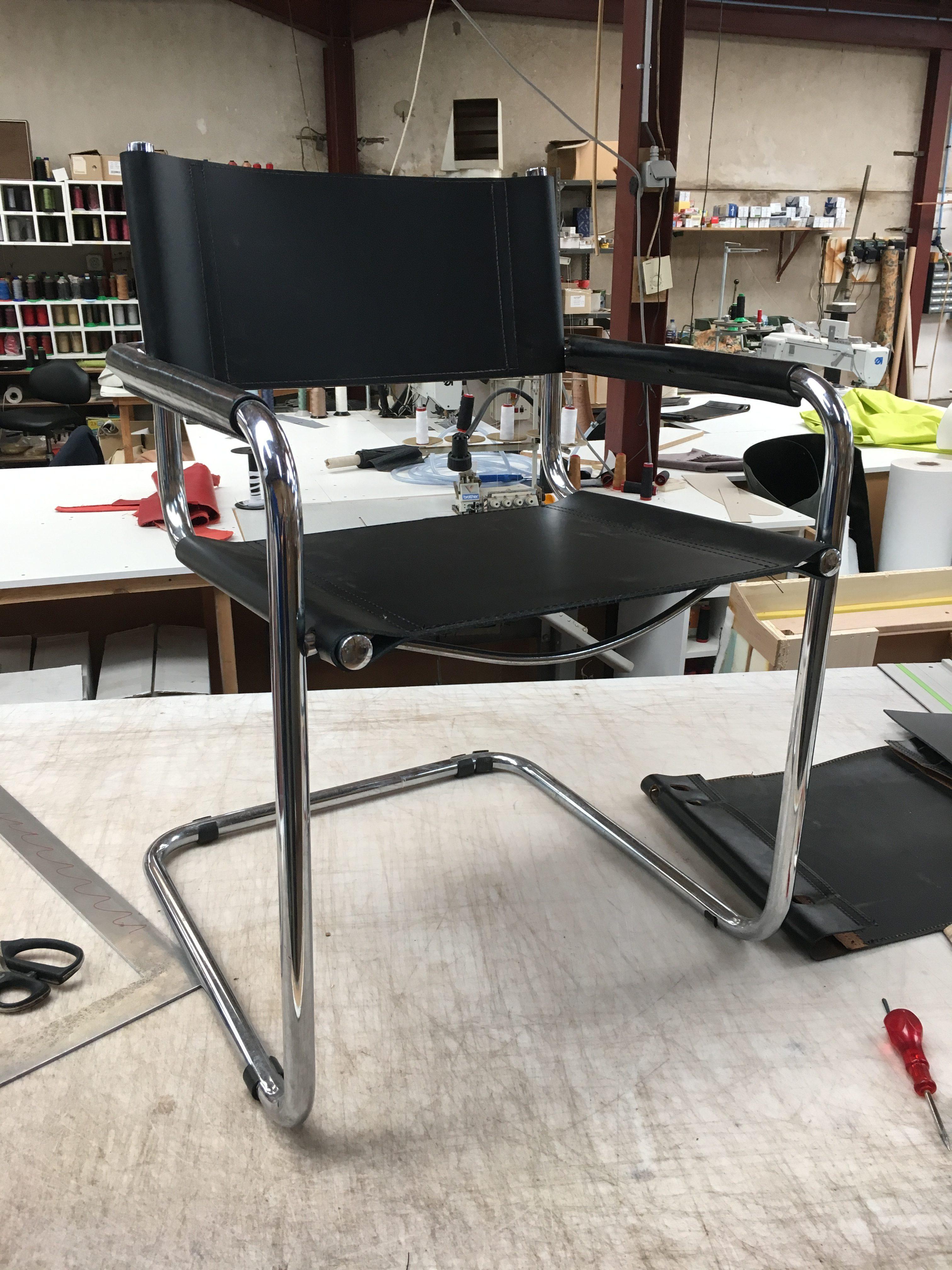 herstelling mart stam s34 stoel van thonet de stoffeerder. Black Bedroom Furniture Sets. Home Design Ideas