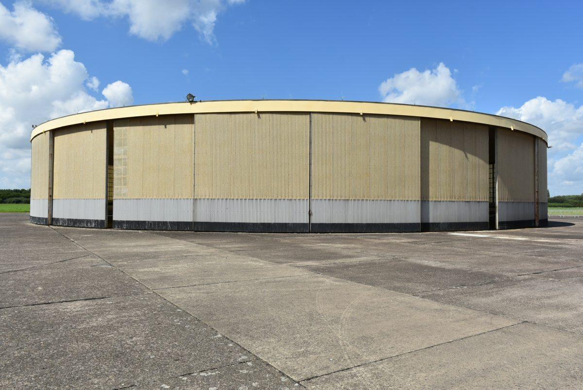 Vliegtuiginterieurstoffering / sportvliegtuig Sabena Aeroclub hangar